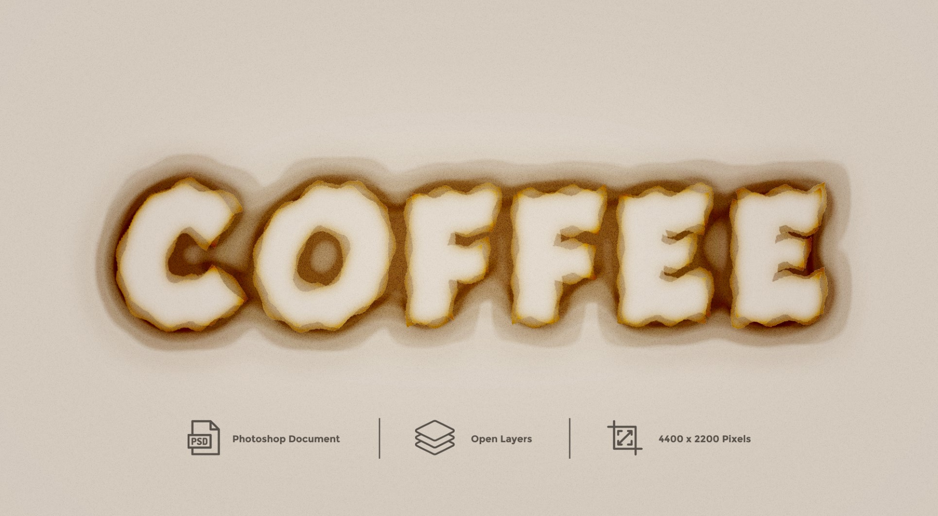Coffee Text Effect - Photoshop Layer Style