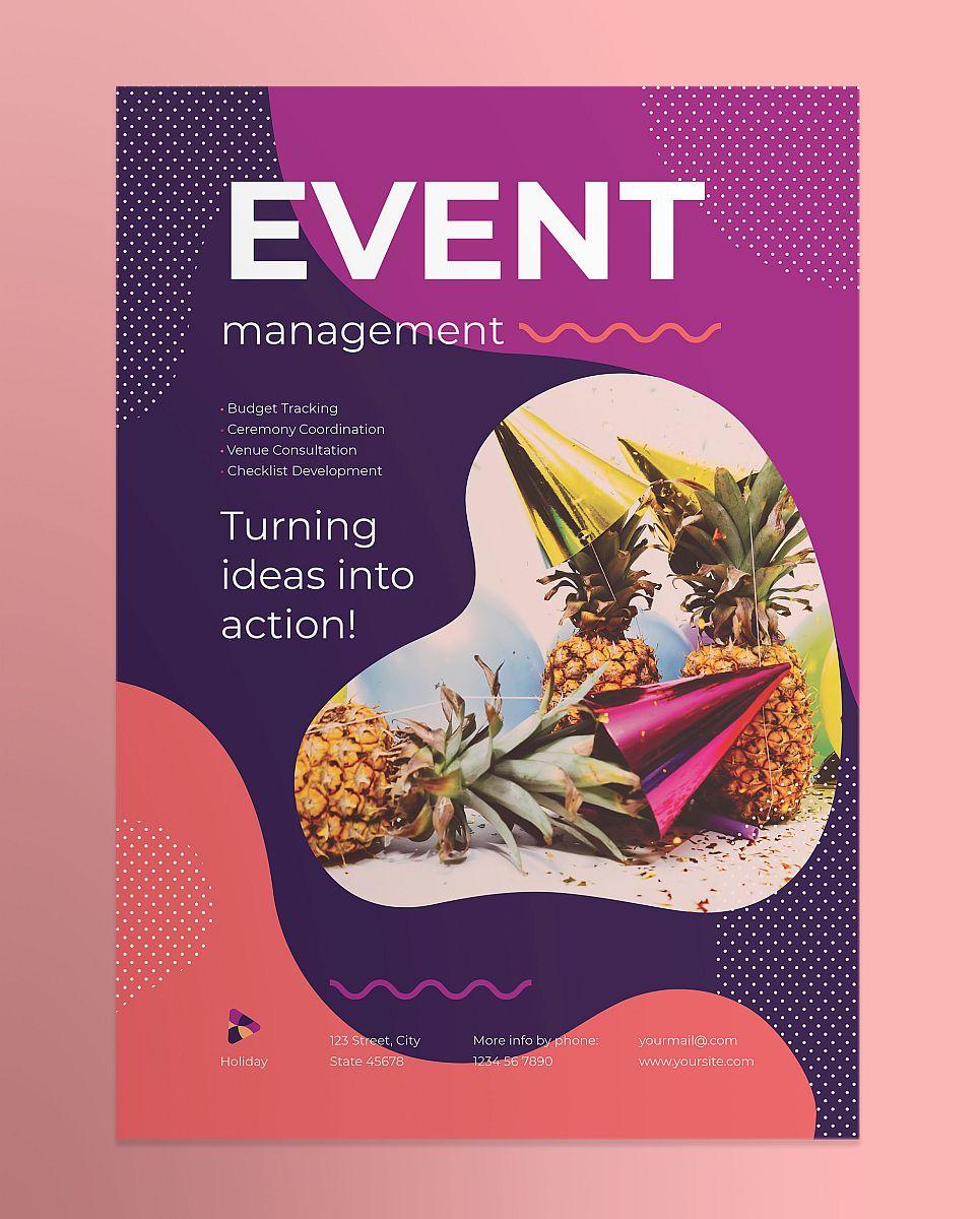 Multipurpose Modern Event Management Poster Template