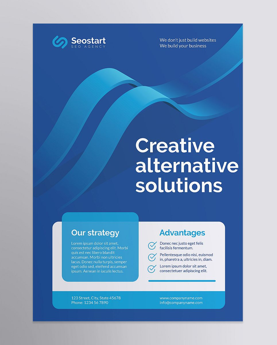 Professional SEO Agency Poster Corporate Identity Template
