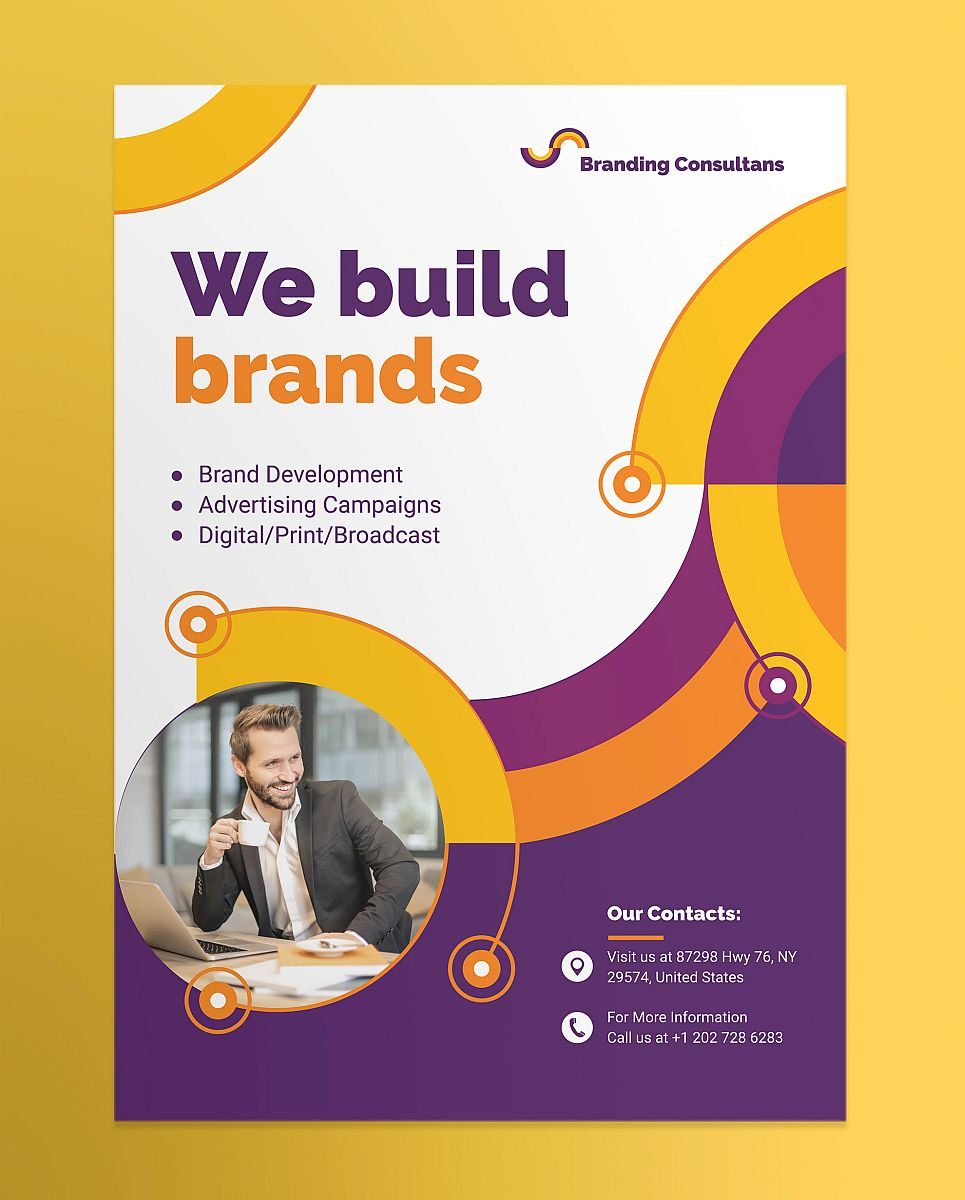 Professional Branding Consultant Poster Corporate Template
