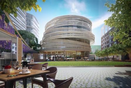 kengo-kuma-the-darling-exchange-sydney-library-circular-tower-designboom-05