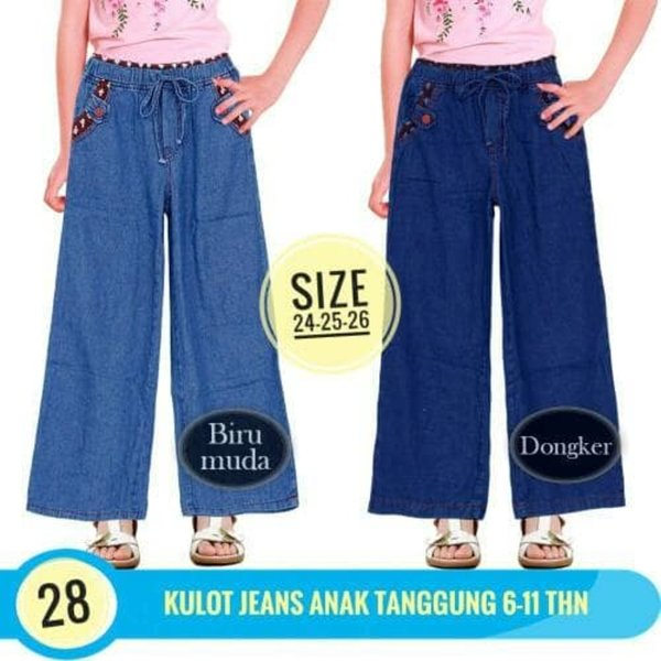 Garansi Celana Panjang anak perempuan Celana Kulot Anak Jeans