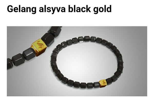Promo NEW GELANG ALSYVA BLACK GOLD