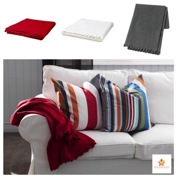 IKEA POLARVIDE Selimut - abu