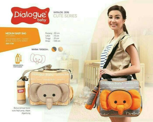 New Tas Bayi Dialogue Medium Cute Series Ekephant DGT 7118