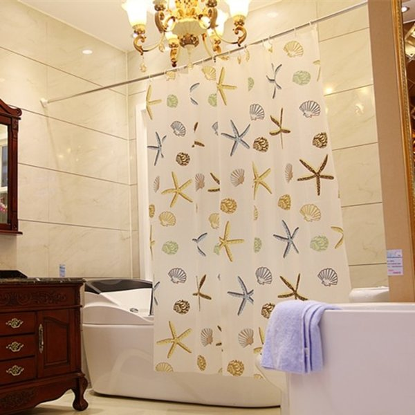 Tirai Kamar Mandi Anti Air Shower Curtain