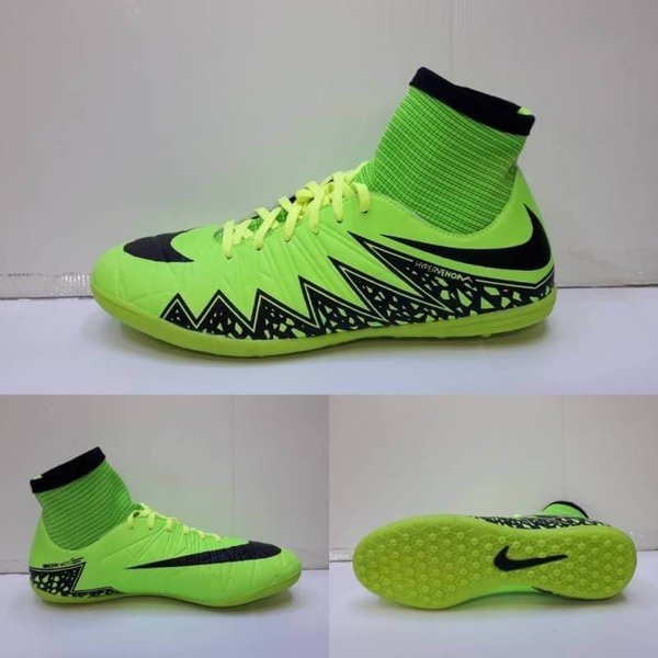 Sepatu Futsal Nike Hypervenom Boots Green Black GO asli