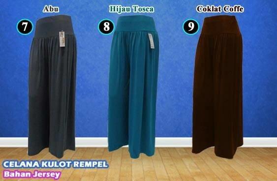 Ready Stock Celana Kulot Panjang Wanita Murah Bahan Jersey Ukuran Jumbo