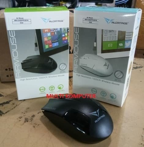 MOUSE NIRKABEL Mouse wireless Bluetooth Airmouse Alcatroz by Powerlogic Resmi murah pass MOUSE WIRELESS