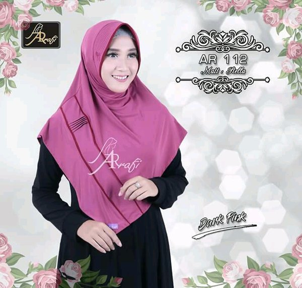 jilbab instan Eskudo List Stripe Arrafi-AR 112/hijab instan/kerudung instan