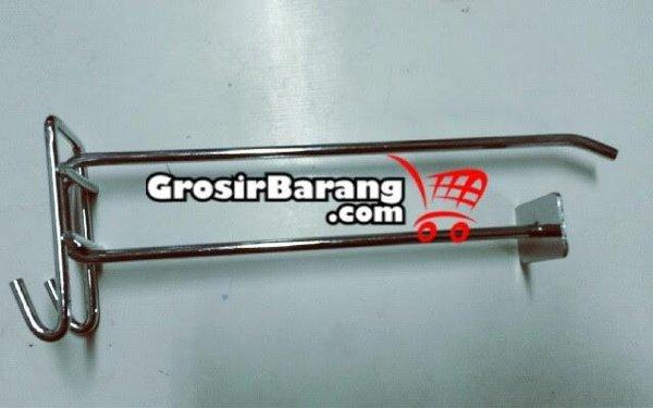 Hook ram Plat Holder Harga 20 cm stainless Rak Supermarket cantolan bandrol harga label harga jual di rak toko swalayan