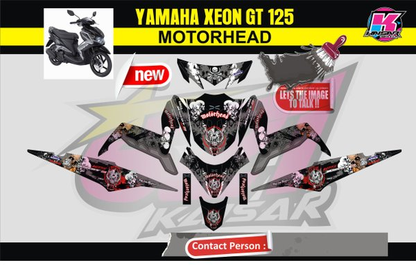 STICKER  MOTOR STRIPING MOTOR FULL BODY YAMAHA  XEON GT MOTORHEAD  Qlty.C