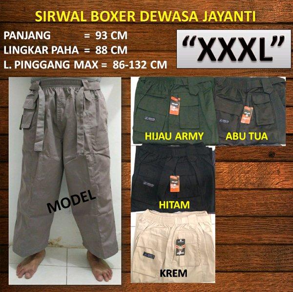 Celana Sirwal Boxer Dewasa Size Extra Jumbo XXXL