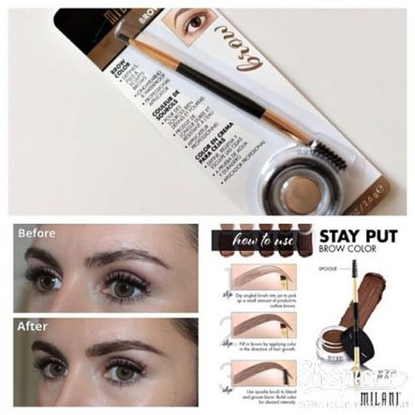 Ready Stock - MILANI STAY PUT BROW COLOR NATURAL TAUPE