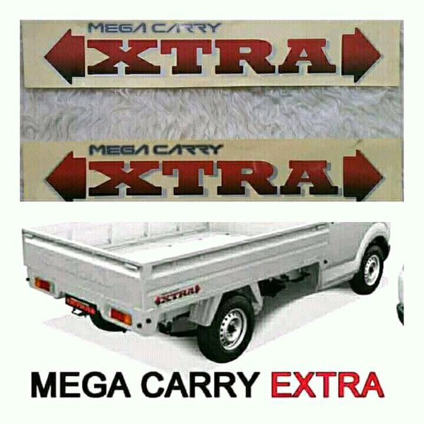 Sepasang Stiker Suzuki Pick Up Mega Carry Xtra - Langka Motor