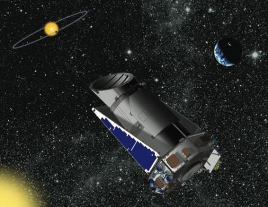 Le télescope spatial Kepler (image d'artiste)