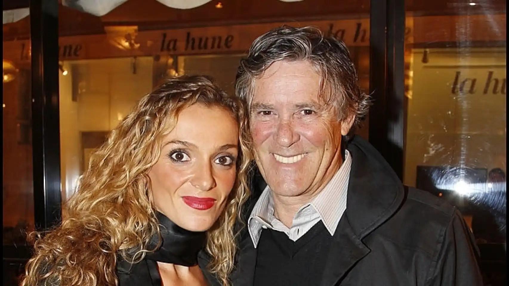Simón Casas con su segunda mujer, Amandine