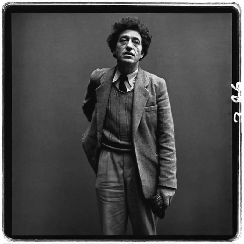 Alberto Giacometti retratado por Richard Avedon.