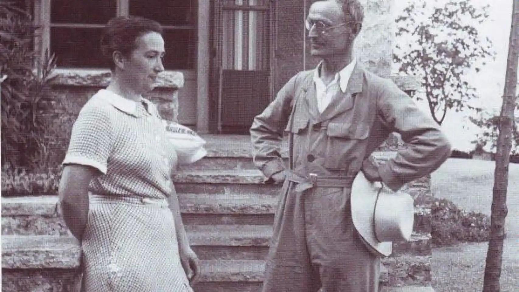 Ninon Dolbin y Hermann Hesse.