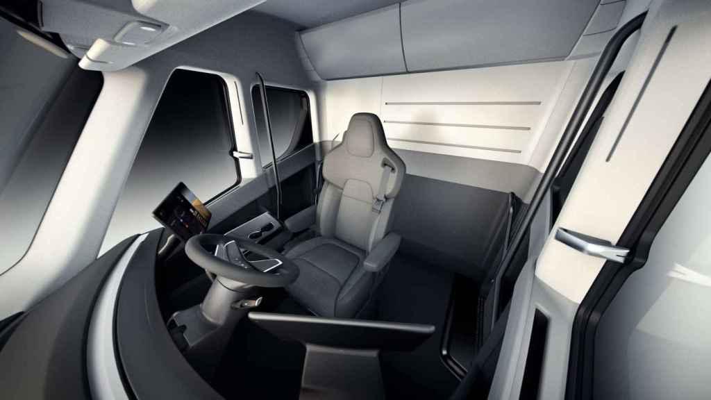 Cabina del Tesla Semi