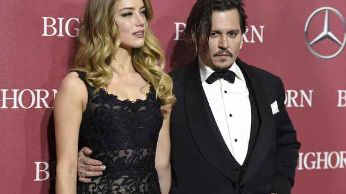 Johnny Depp and Amber Heard in a picture file.
