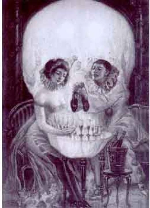 Size:100x108 - 4k: Bull Skull Tattoo
