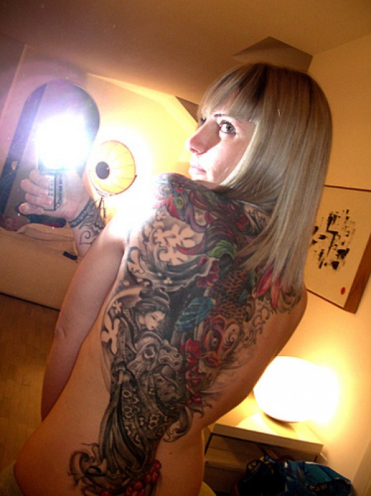 Some people will go one better and combine traditional tattoo inks with