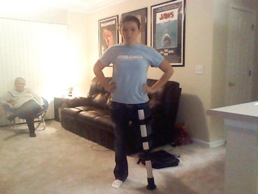My daughter and her iWALKFree crutch....