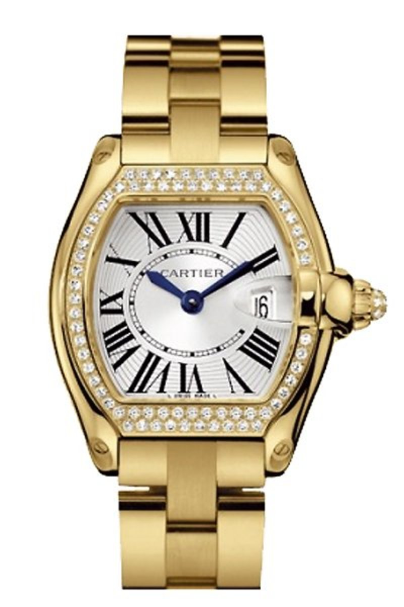 CARTIER GOLD WATCH WITH DIAMONDS