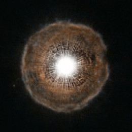U-Camelopardalis-A-Carbon-Star  The Hubble Space Telescope recently captured this amazing image of a star nearing the end of it's life.