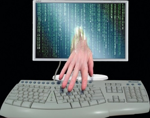 An unauthorized person accesses your personal information during a data breach.