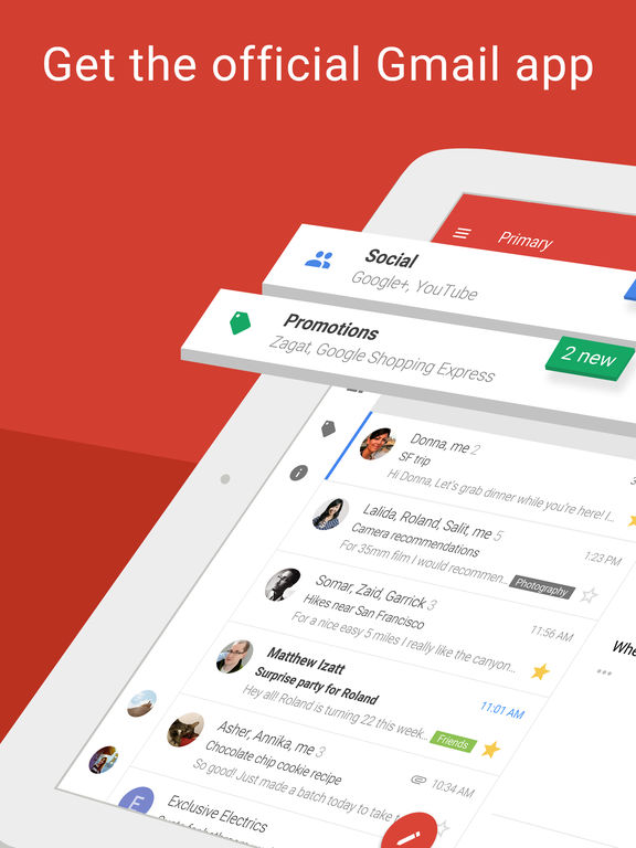 Gmail - email by Google: secure, fast & organized Screenshot