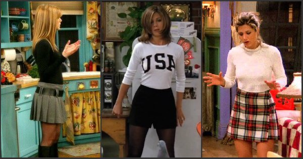 Decorative image of Rachel from friends demonstrating 90's fashion