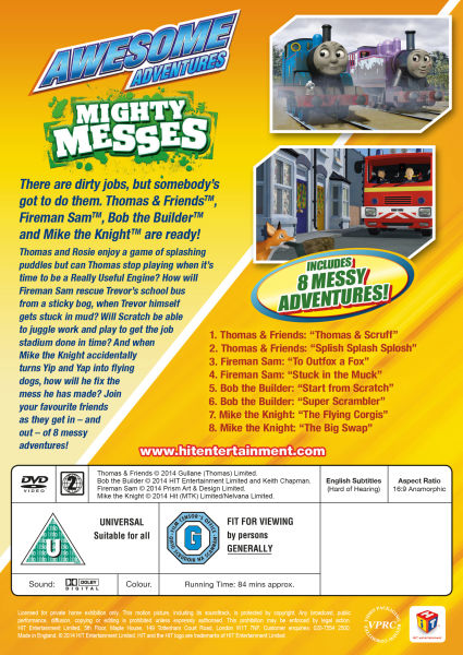 Awesome Adventures Mighty Messes DVD Zavvi