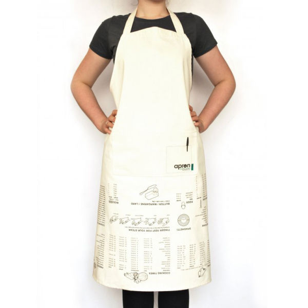Kitchen Apron With Cooking Guide Print IWOOT