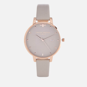 Olivia Burton Women's Mini Moulded Bee Watch - Grey/Rose Gold