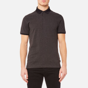 Calvin Klein Men's Jasto Pique Polo Shirt - Asphalt Heather