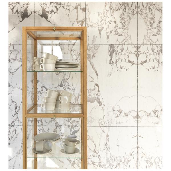 NLXL Piet Hein Eek White Marble Wallpaper - White