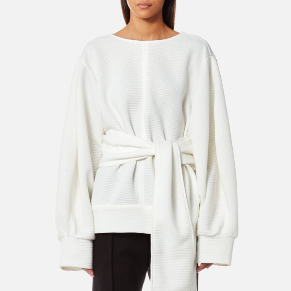 House of Sunny Women's Primary Rib Oversized Jumper - Clean White