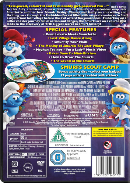 Smurfs The Lost Village 2 Disc Family Fun Edition DVD