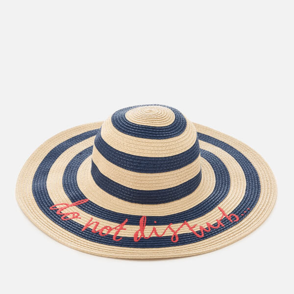 Joules Women's Do Not Disturb Hello Sunshine Sun Hat - Stripe