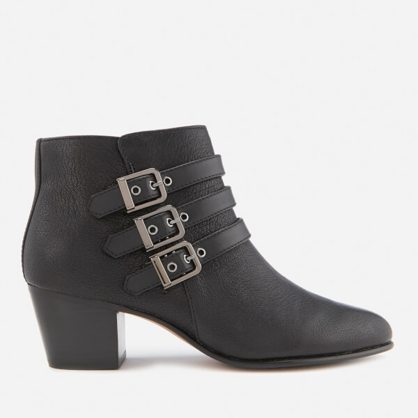 Clarks Women's Maypearl Rayna Tumbled Leather Heeled Ankle Boots - Black