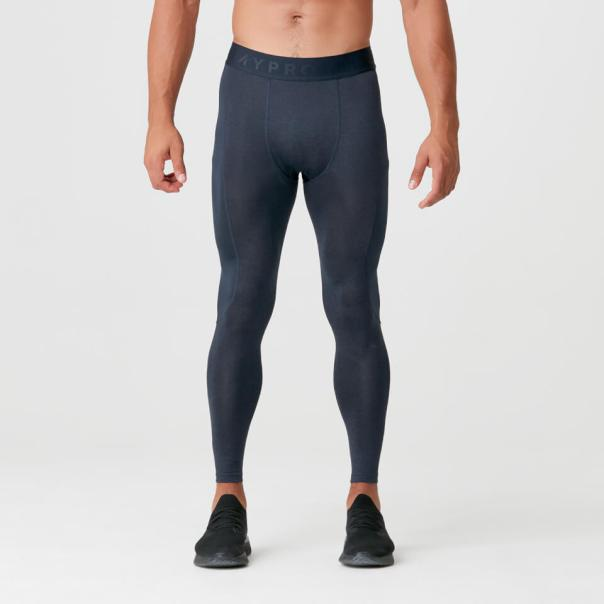 Charge Compression Tights - M - Navy Marl