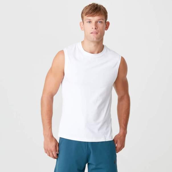 Camiseta sin Mangas Luxe - XL - Blanco