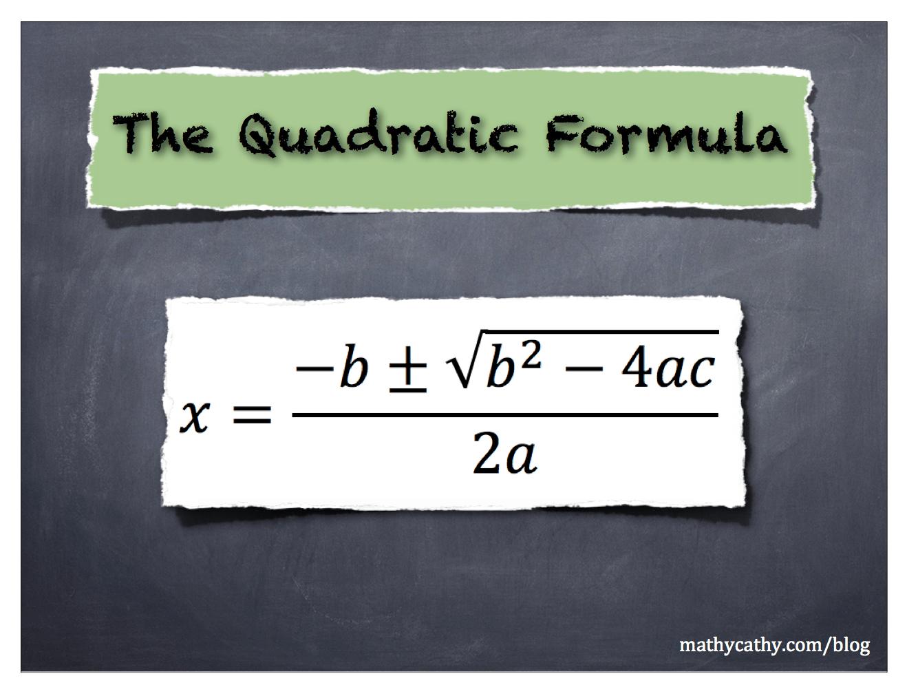 Algebra 1 Quadratic Equations Project