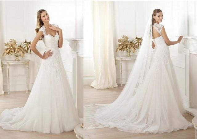 Cap Sleeves Sweetheart Bridal Wedding Gown Wedding Dress