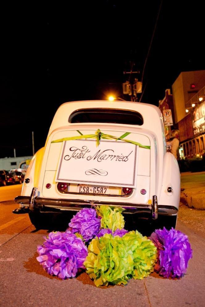 Green Weddings And Purple Bridesmaid Dresses Lime Wedding Idea Flowers Emilys