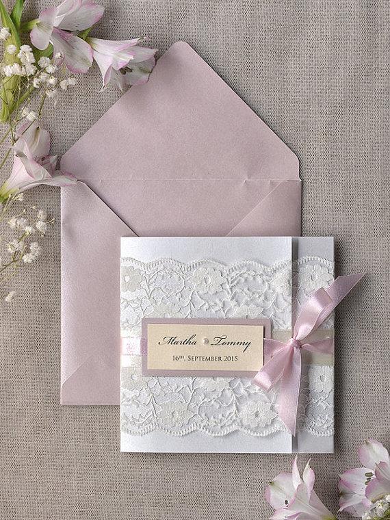 Vintage Rustic Pink Peony Wedding Invitations