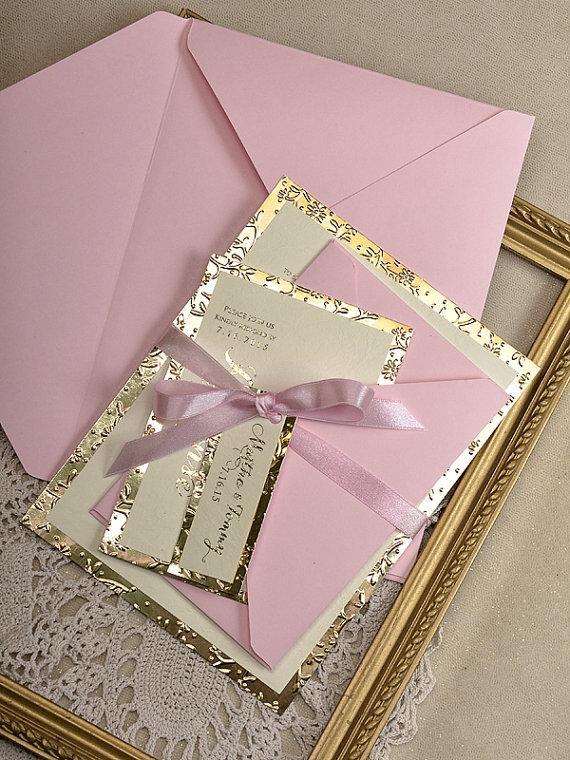 Hand Embossing Wedding Invitation Envelope