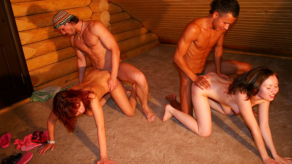 Nude students have a blast in a rented cottage (College Fuck Parties)